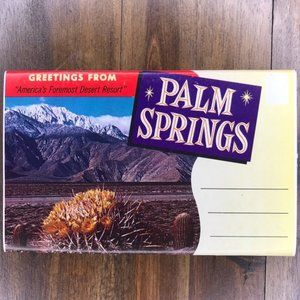 Vintage Palm Springs CA Travel Postcard Book